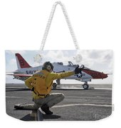 A Shooter Launches A T-45 Goshawk Weekender Tote Bag