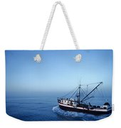 A Shrimp Boat In The Gulf Of Mexico Weekender Tote Bag