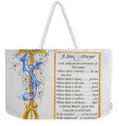 A Simple Prayer Weekender Tote Bag