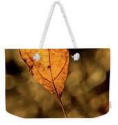 A Single Leaf In The Late Sun Weekender Tote Bag