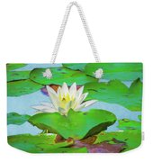 A Single Water Lily Blossom Weekender Tote Bag