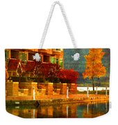 A Single Yellow Tree Weekender Tote Bag