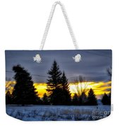 A Sleepy Morning Sunrise Weekender Tote Bag