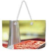 A Slice Of Beefsteak Tomato With Salt Weekender Tote Bag
