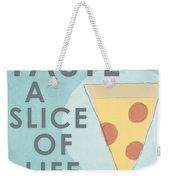 A Slice Of Life Weekender Tote Bag by Linda Woods