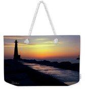 A Sliver Of Sunset Weekender Tote Bag