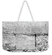 A Small Part Of The Wailing Wall In Black And White Weekender Tote Bag