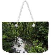 A Small River Flows Through A Dense Weekender Tote Bag