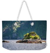 A Small Rocky Island At Doubtful Sound Weekender Tote Bag