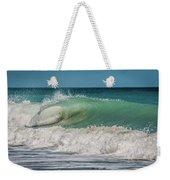 A Small Tube Wave In Atlantic Ocean Weekender Tote Bag