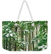 A Snowy Day - Paint Weekender Tote Bag