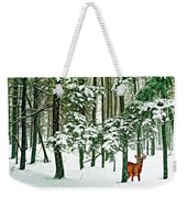A Snowy Day Weekender Tote Bag