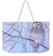 A Barred Owl Weekender Tote Bag