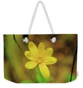A Soft Yellow Flower  Weekender Tote Bag