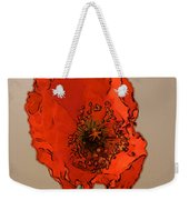 A Solitary Poppy Weekender Tote Bag