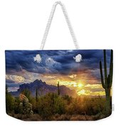A Sonoran Desert Sunrise - Square Weekender Tote Bag