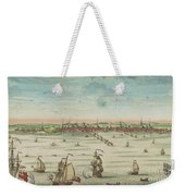 A South East View Of The Great Town Of Boston In New England In America, 1730 Weekender Tote Bag