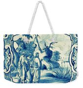 A South-german Faience Stove Tile Second Half 18th Century, By Adam Asar, No 18a Weekender Tote Bag