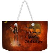 A Spooky, Space Halloween Card Weekender Tote Bag