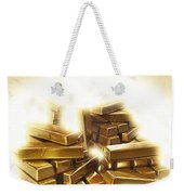 A Stack Of Gold Bullion  Weekender Tote Bag