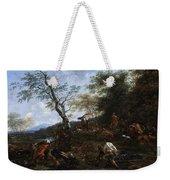 A Stag Hunt Nicolaes Claes Pietersz Berchem Weekender Tote Bag