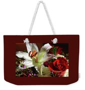 A Star Lily With  A Rose Weekender Tote Bag