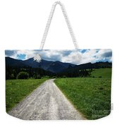 A Stone Path Through The Countryside Into The Forest Weekender Tote Bag