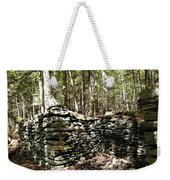 A Stone Structure In The Berkshire Hills Weekender Tote Bag