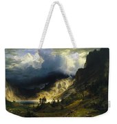A Storm In The Rocky Mountains Mt. Rosalie, 1866 Weekender Tote Bag