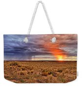 A Stormy New Mexico Sunset - Storm - Landscape Weekender Tote Bag
