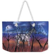 A Stormy Night For A Zebra  Weekender Tote Bag