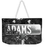 Ad - A Street Sign Named Adams Weekender Tote Bag