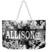 Al - A Street Sign Named Allison Weekender Tote Bag