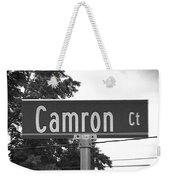 Ca - A Street Sign Named Camron Weekender Tote Bag