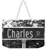 Ch - A Street Sign Named Charles Weekender Tote Bag