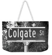 Co - A Street Sign Named Colgate Weekender Tote Bag