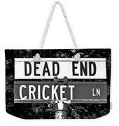 Cr - A Street Sign Named Cricket Weekender Tote Bag