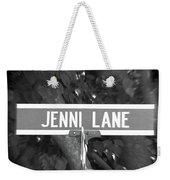Je - A Street Sign Named Jenni Weekender Tote Bag