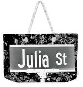 Ju - A Street Sign Named Julia Weekender Tote Bag