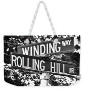 Wi - A Street Sign Named Winding Way And Rolling Hill Weekender Tote Bag