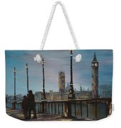 An Evening Stroll Along The Thames  Weekender Tote Bag