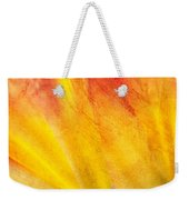 A Study In Red And Yellow Weekender Tote Bag