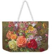 A Summer Floral Arrangement Weekender Tote Bag