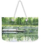 A Summer Pond Weekender Tote Bag