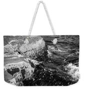 A Summer's Day At Nubble Light, York, Maine  -67969-bw Weekender Tote Bag