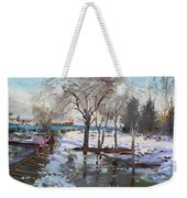 A Sunny Freezing Day Weekender Tote Bag