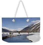 A Sunny Winter Scene In The Swiss Alps Weekender Tote Bag