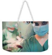 A Surgeon Taking Selfie  Weekender Tote Bag