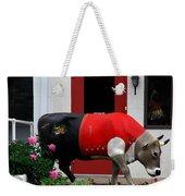 A Swiss Cow In New Glarus Wi Weekender Tote Bag