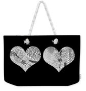 A Tale Of Two Hearts Weekender Tote Bag